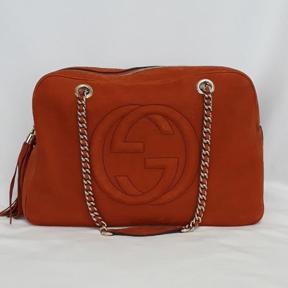 Gucci Handbags - New Gucci 353126 Nubuck Soho Chain Shoulder Bag